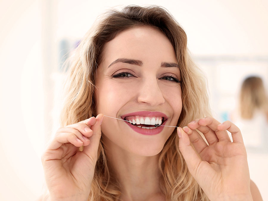 Dental Cleaning Flossing
